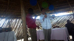 Pastor Bryant preaching in Nimule, South Sudan