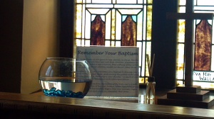 Remember your baptism in the Prayer Room